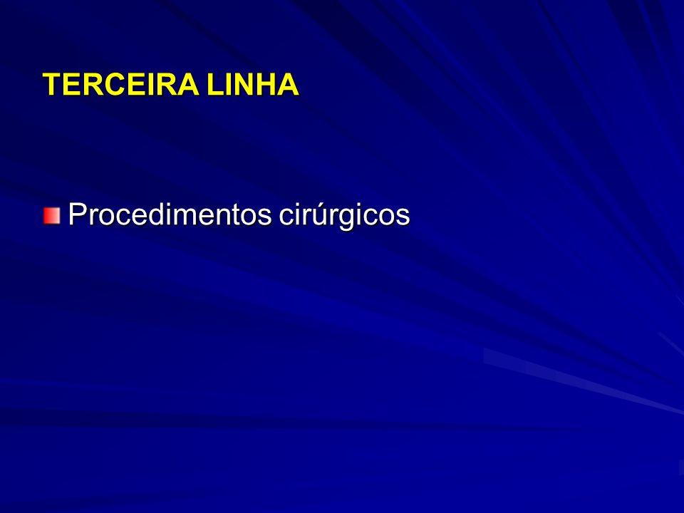 TERCEIRA LINHA Procedimentos cirúrgicos