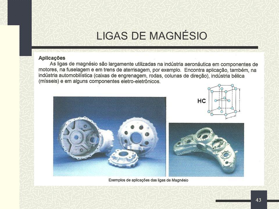 LIGAS DE MAGNÉSIO 43 HC