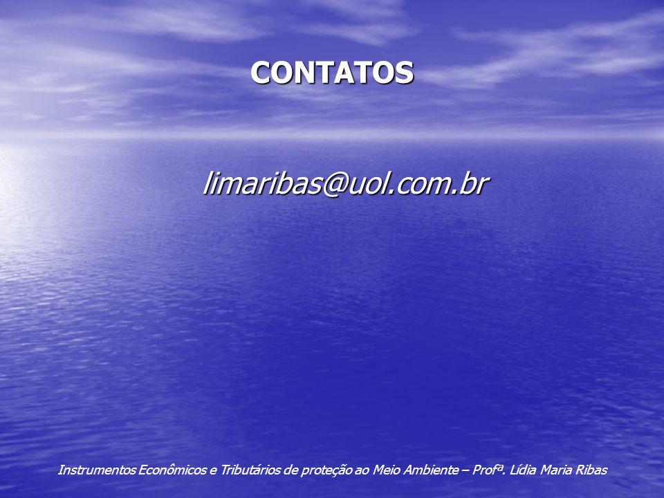 CONTATOS limaribas@uol.com.br