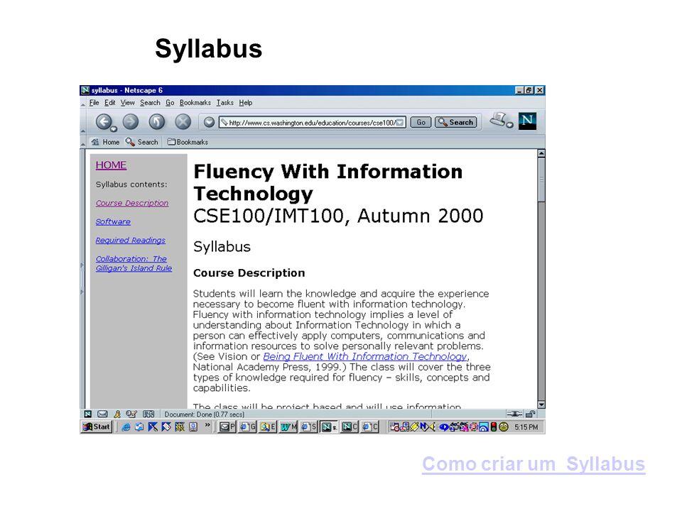 Syllabus Como criar um Syllabus