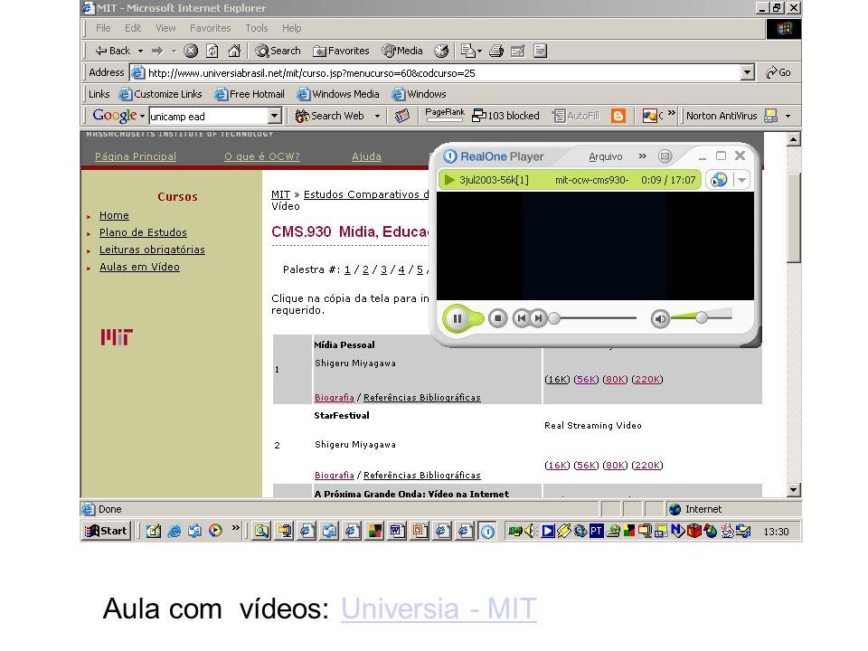 Aula com vídeos: Universia - MITUniversia - MIT