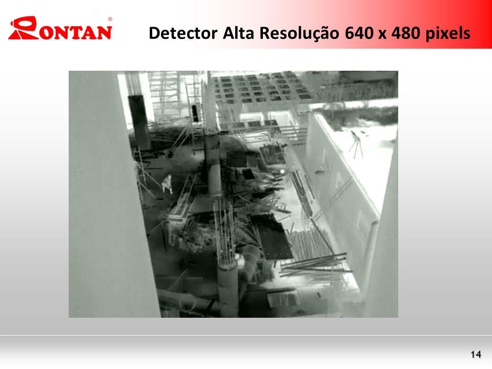 14 Detector Alta Resolução 640 x 480 pixels