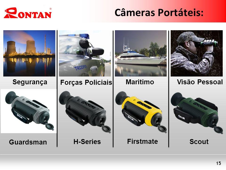 15 Câmeras Portáteis: Segurança Forças Policiais MaritimoVisão Pessoal Guardsman ScoutH-Series Firstmate