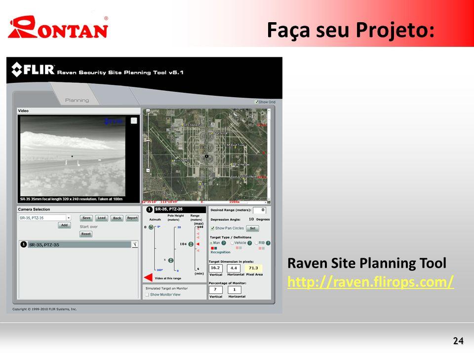 24 Faça seu Projeto: Raven Site Planning Tool http://raven.flirops.com/