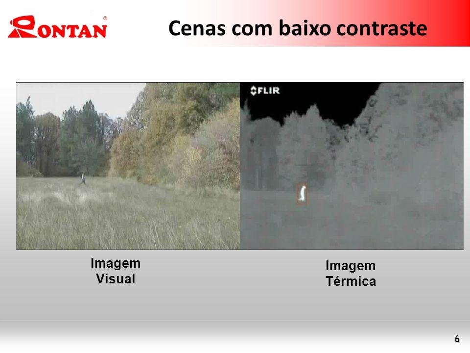 6 Cenas com baixo contraste Imagem Visual Imagem Térmica