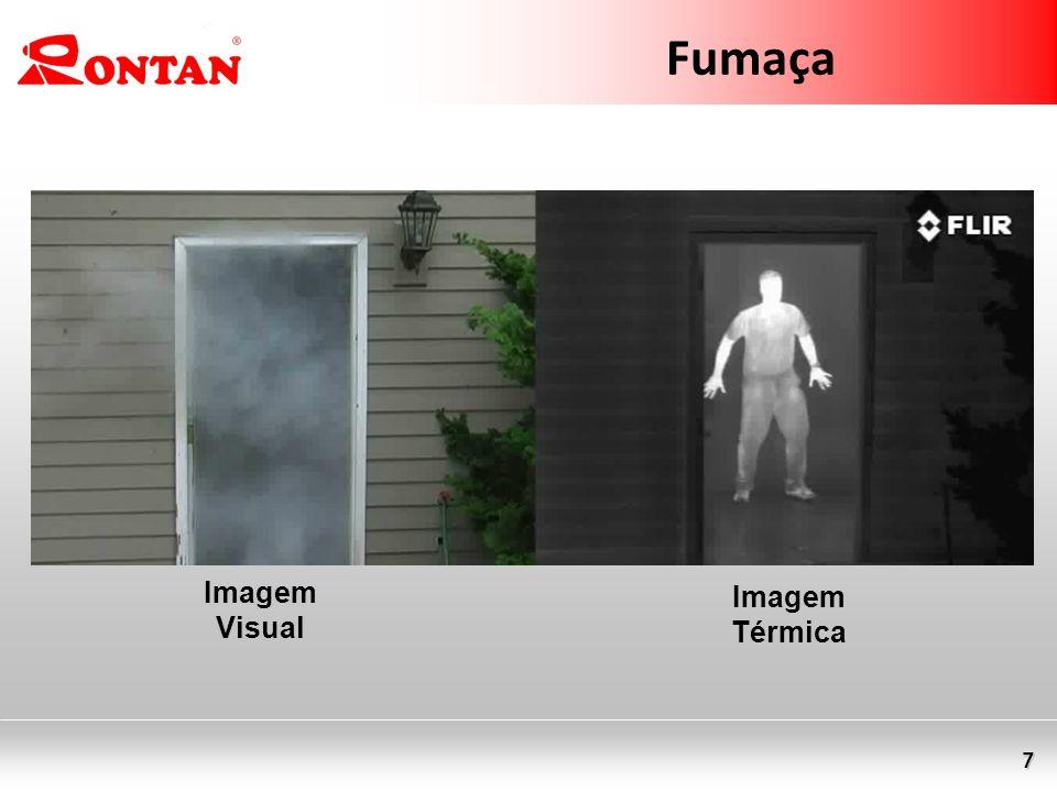 7 Fumaça Imagem Visual Imagem Térmica