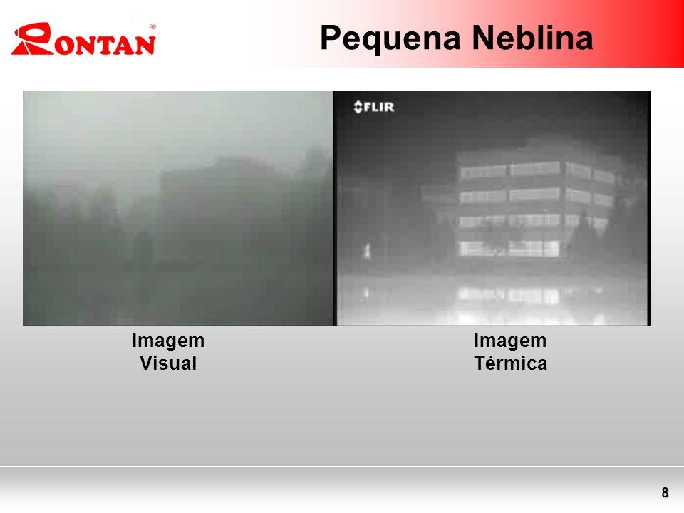 8 Pequena Neblina Imagem Visual Imagem Térmica