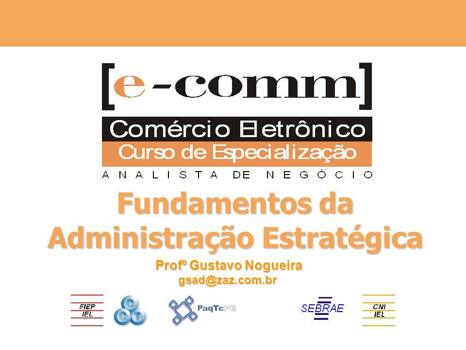 Apoio Realização Fundamentos da Administração Estratégica Profº Gustavo Nogueira gsad@zaz.com.br