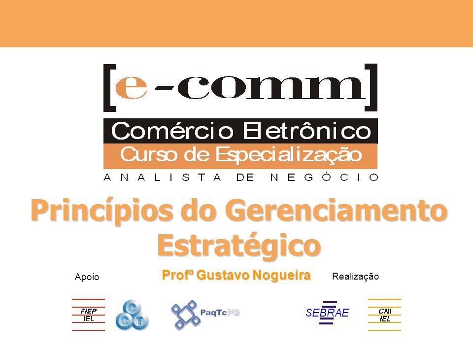 Apoio Realização Princípios do Gerenciamento Estratégico Profº Gustavo Nogueira