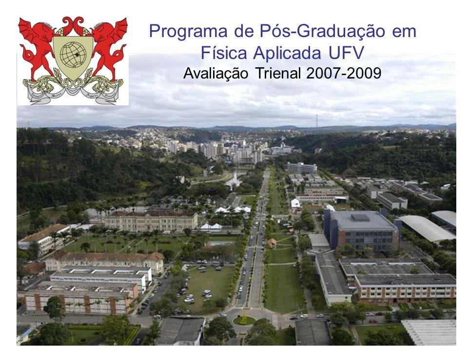 Programa de Pós-Graduação em Física Aplicada UFV Avaliação Trienal 2007-2009