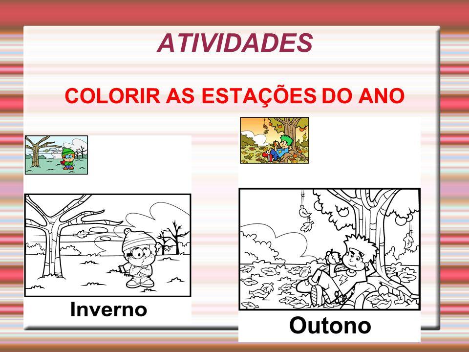 ATIVIDADES COLORIR AS ESTAÇÕES DO ANO