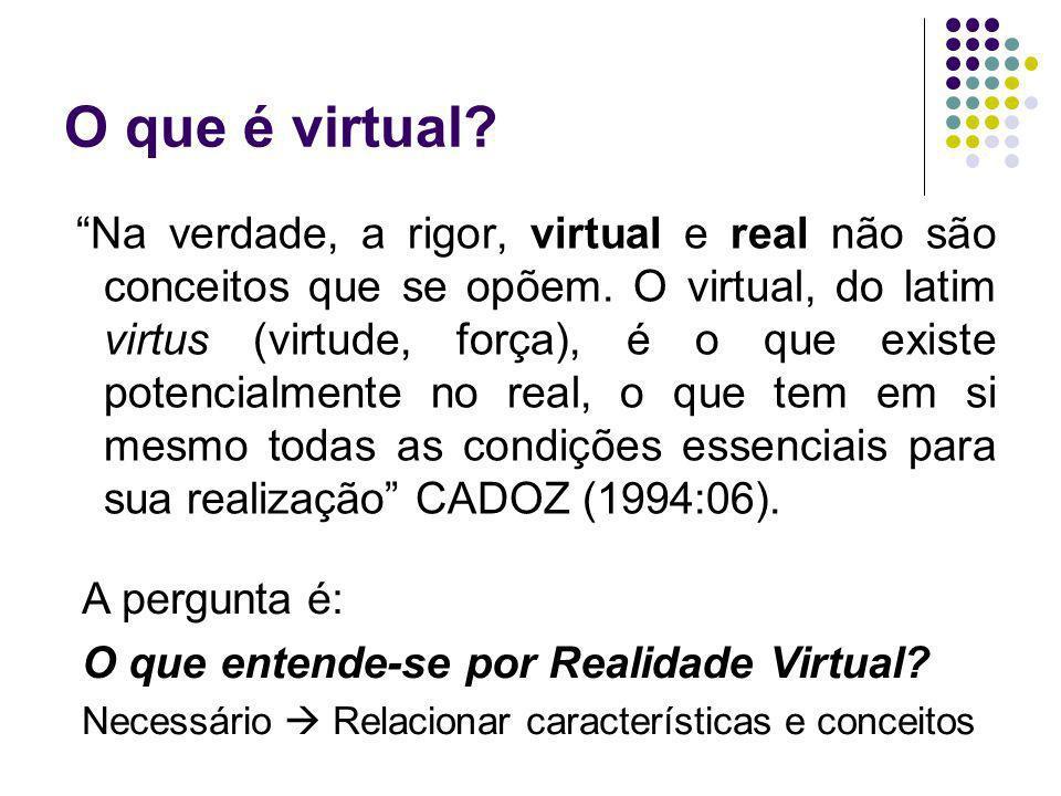 O que é virtual? Na verdade, a rigor, virtual e real não são conceitos que se opõem. O virtual, do latim virtus (virtude, força), é o que existe poten