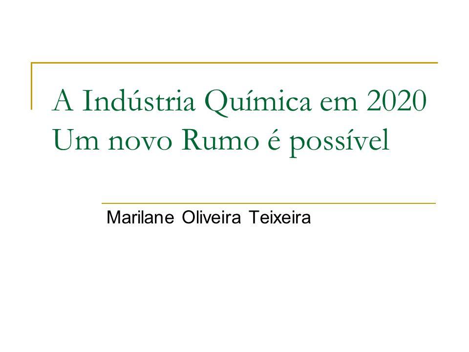 A Indústria Química em 2020 Um novo Rumo é possível Marilane Oliveira Teixeira