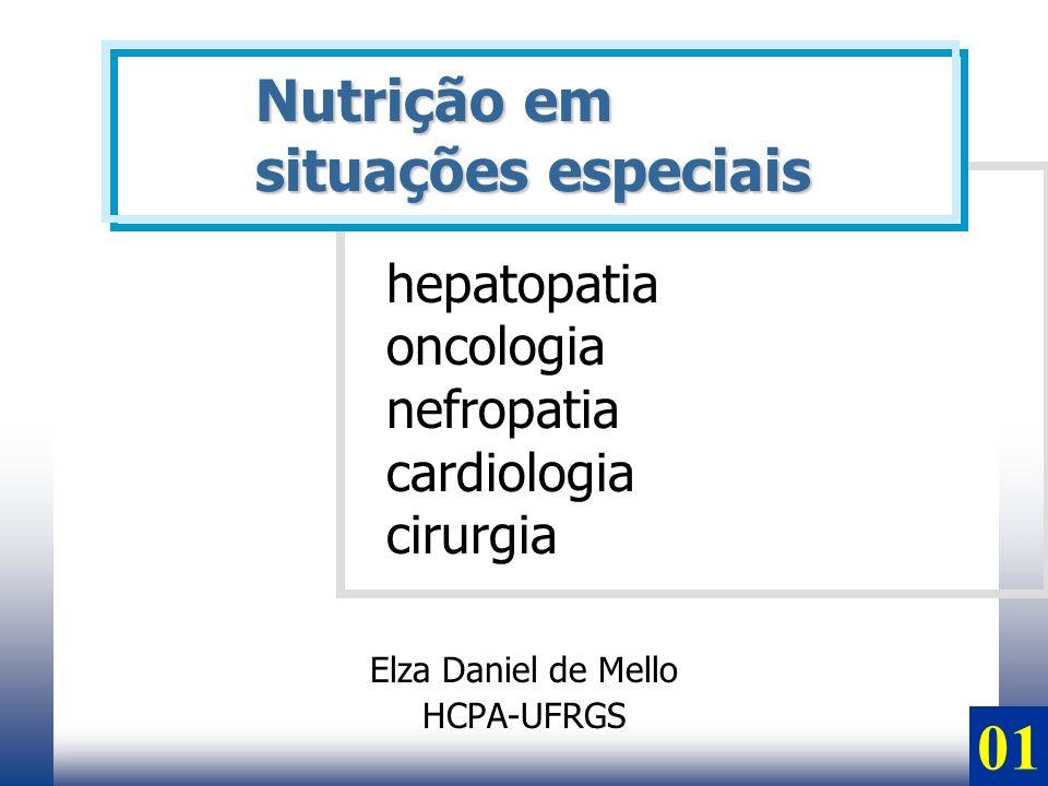 Elza Daniel de Mello HCPA-UFRGS Nutrição em situações especiais hepatopatia oncologia nefropatia cardiologia cirurgia 01