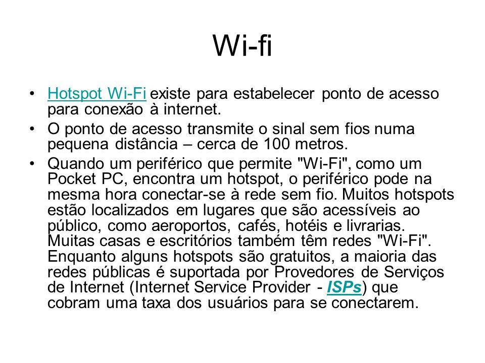 Wi-fi Hotspot Wi-Fi existe para estabelecer ponto de acesso para conexão à internet.Hotspot Wi-Fi O ponto de acesso transmite o sinal sem fios numa pe