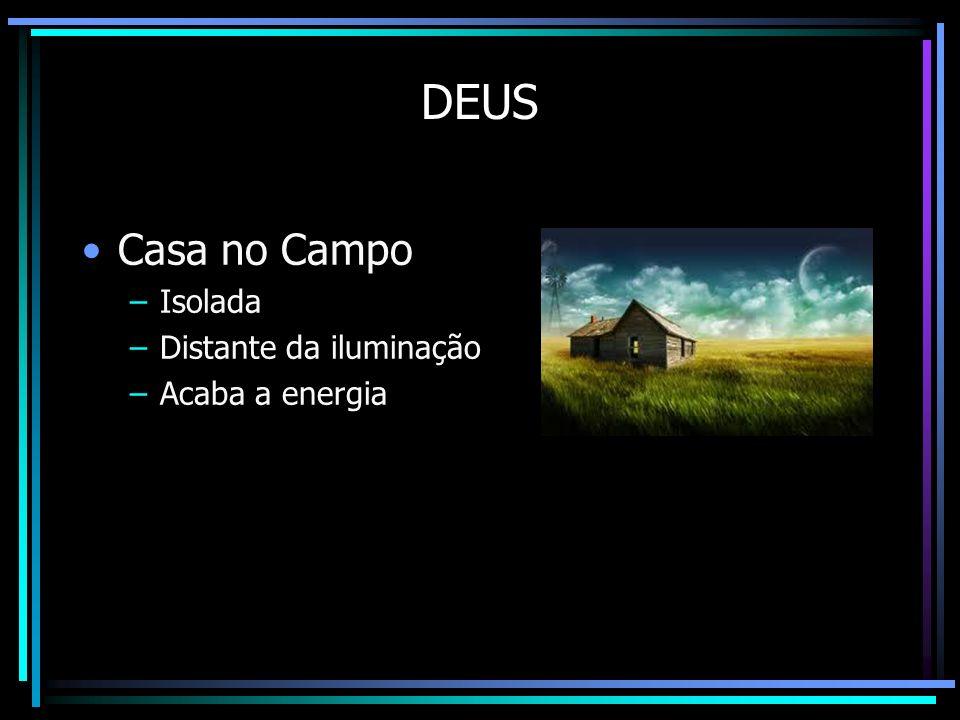 DEUS Casa no Campo –Isolada –Distante da iluminação –Acaba a energia Fósforo Vela Lampião