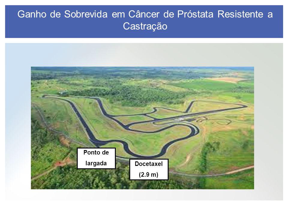 Ganho de Sobrevida em Câncer de Próstata Resistente a Castração Ponto de largada Docetaxel (2.9 m)