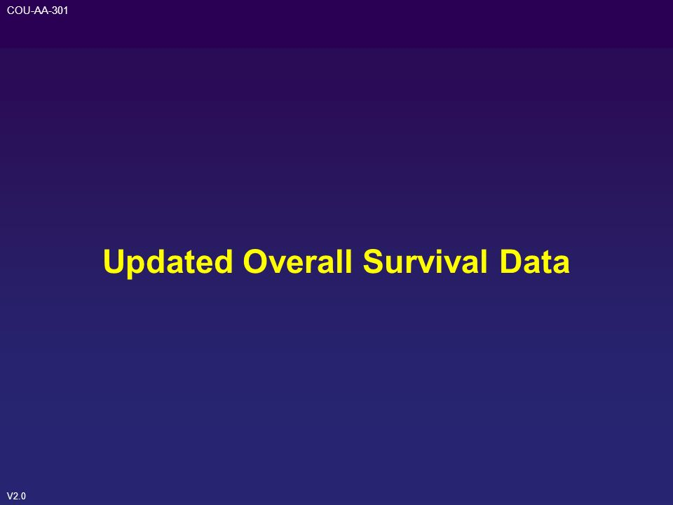 V2.0 COU-AA-301 Updated Overall Survival Data
