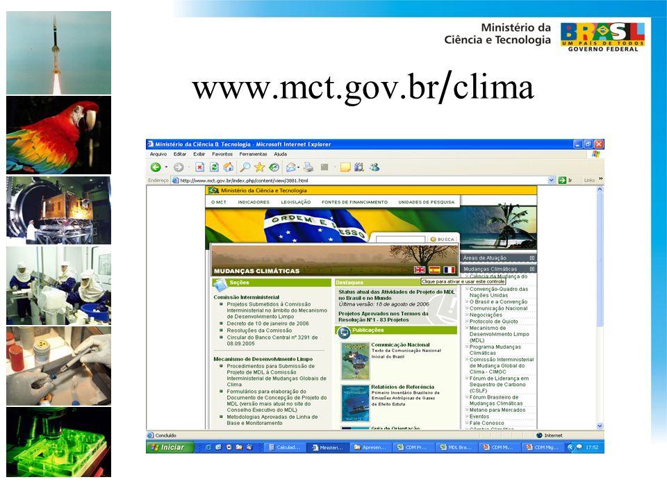 www.mct.gov.br / clima