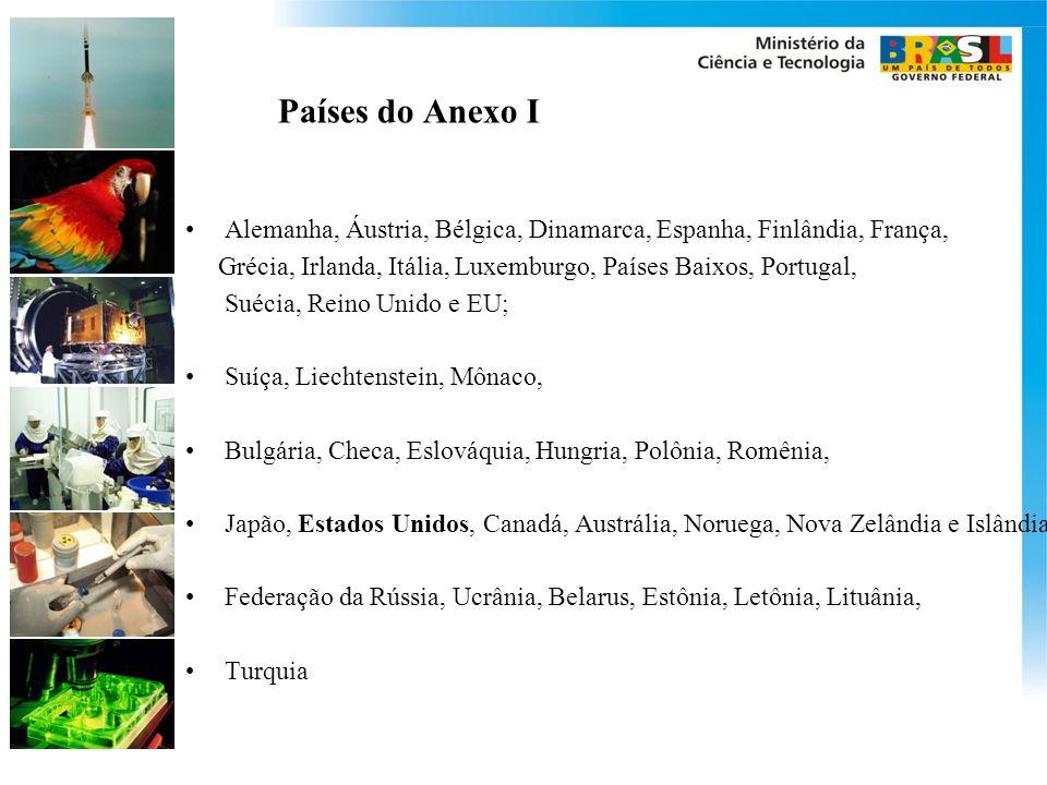 Países do Anexo I Alemanha, Áustria, Bélgica, Dinamarca, Espanha, Finlândia, França, Grécia, Irlanda, Itália, Luxemburgo, Países Baixos, Portugal, Sué