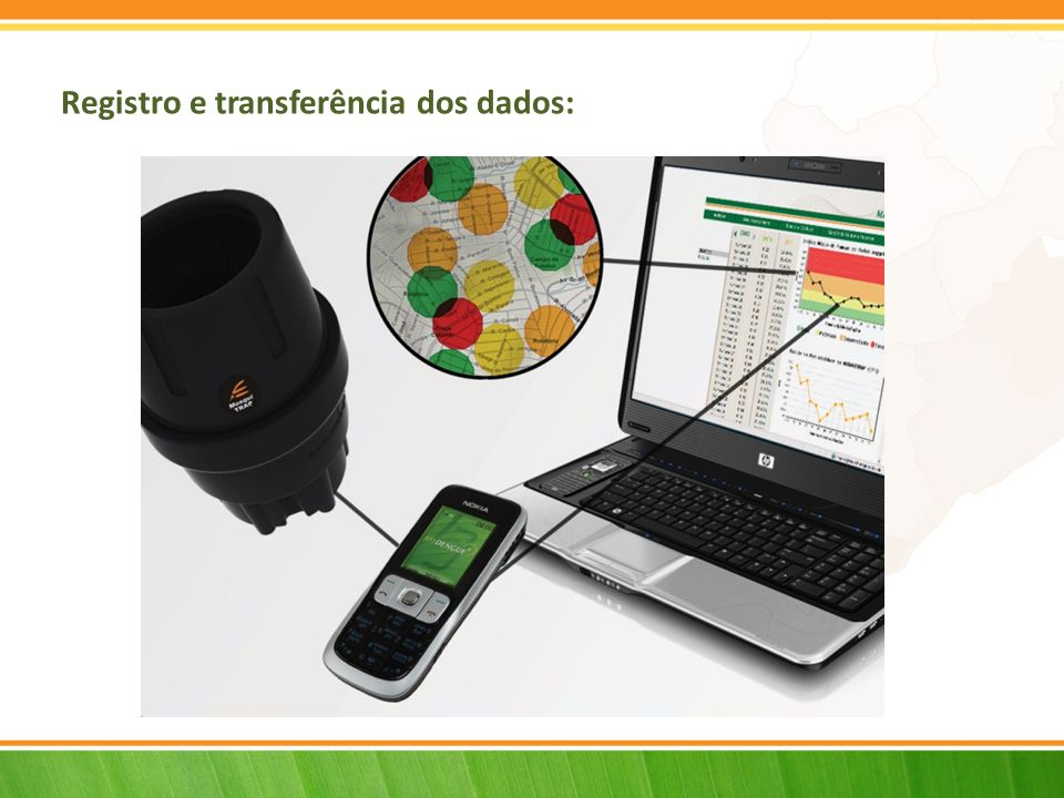 Registro e transferência dos dados: