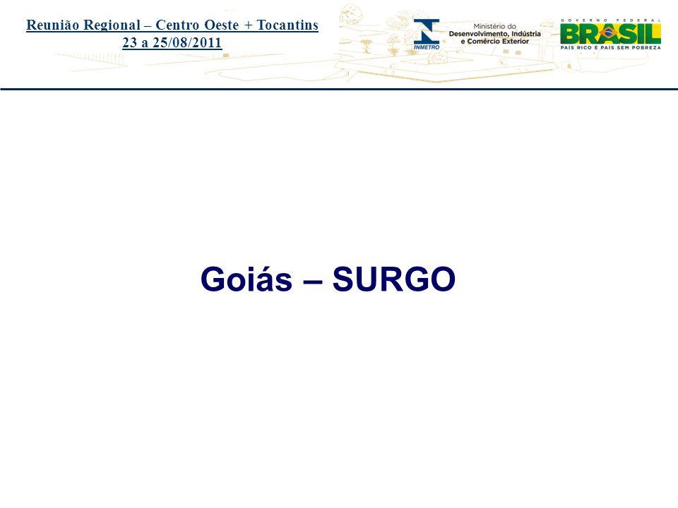 Título do evento Reunião Regional – Centro Oeste + Tocantins 23 a 25/08/2011 ÓRGÃOSURGO - PA-500-013/2011-O AUDIN E DQUAL Sem pendências em 2010 - Auditoria será realizada no período de 12 a 16/09/2011 DIMEL PA-500-004/2010-O 8 Não há certificado de calibração do equipamento simulador de pista, no Posto de Ensaio Brasil Cronotacógrafos Comércio e Serviços Ltda, estabelecido na Av.
