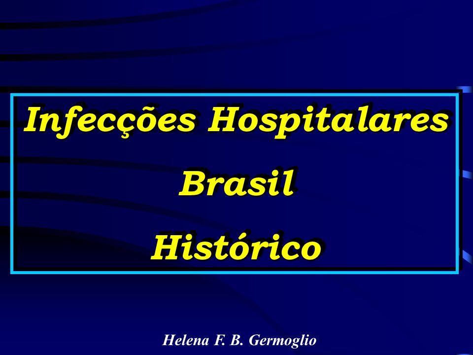 Infecções Hospitalares BrasilHistórico BrasilHistórico Helena F. B. Germoglio