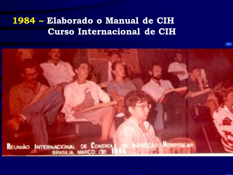 1984 – Elaborado o Manual de CIH Curso Internacional de CIH