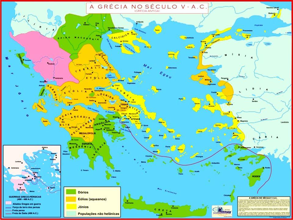 HISTÓRIA E NATUREZA A Grécia apresenta um relevo montanhoso e por isso só um quinto do território é habitável.