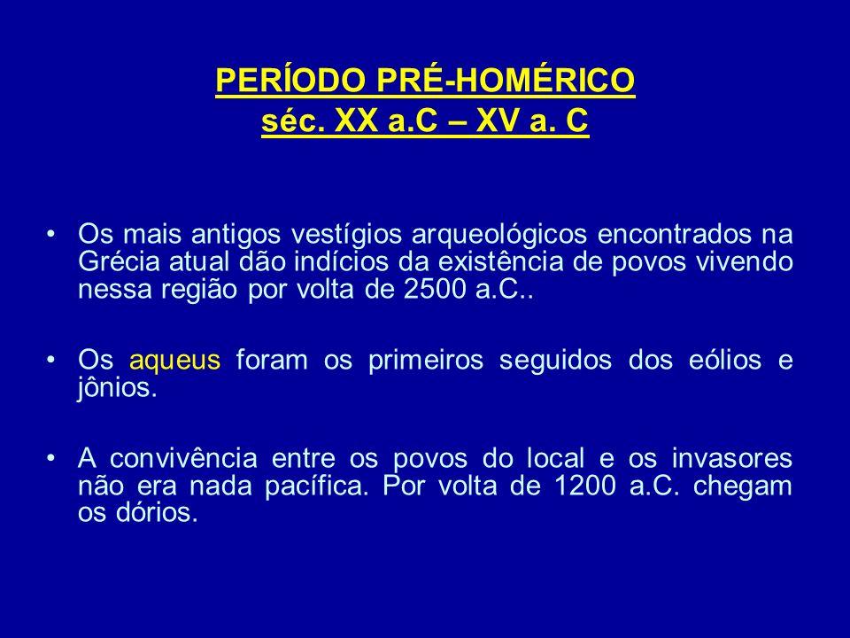 Civilização Creto-Micênica (cretenses + aqueus) - 2000 à 1400 a.