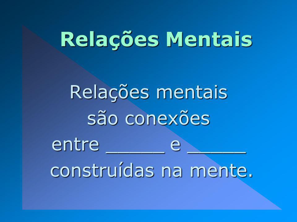 Relações Mentais Relações mentais são conexões entre _____ e _____ construídas na mente. construídas na mente.