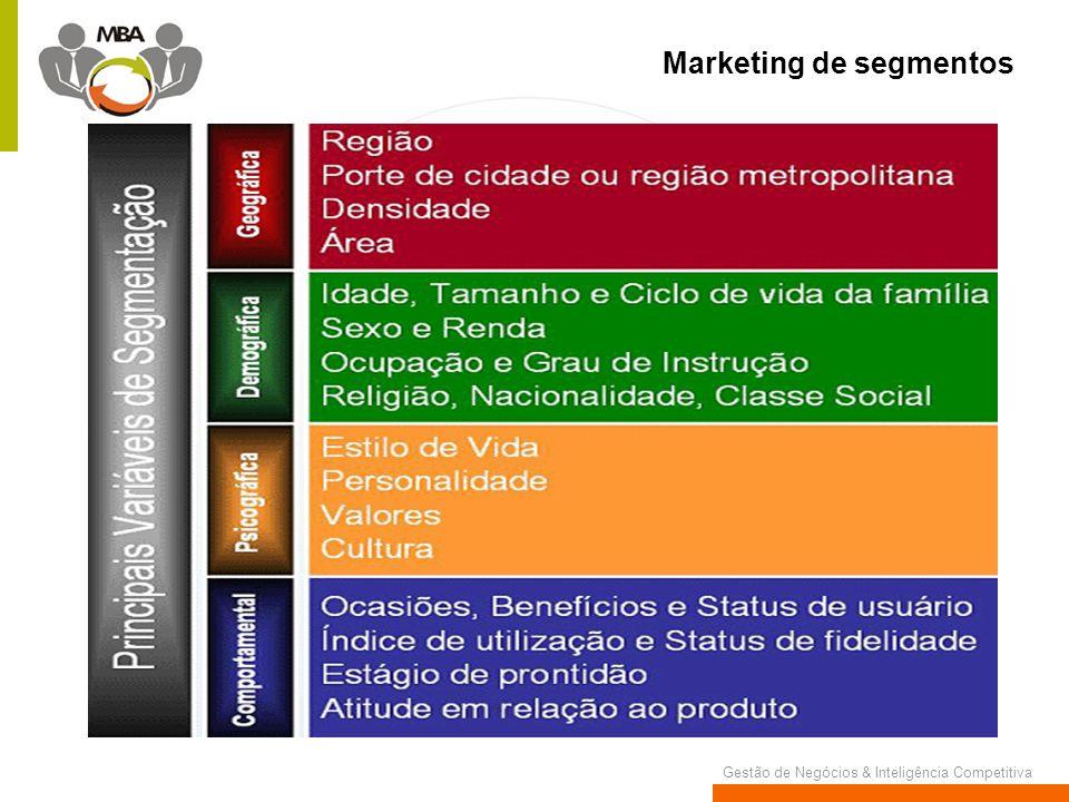Gestão de Negócios & Inteligência Competitiva Marketing de segmentos