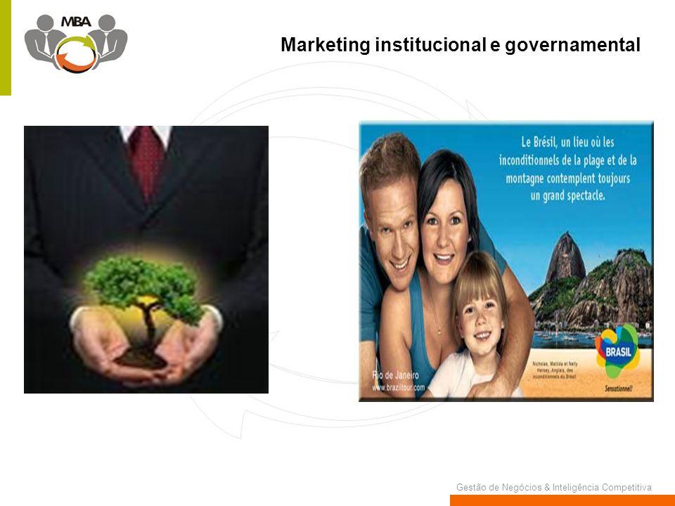 Gestão de Negócios & Inteligência Competitiva Marketing institucional e governamental