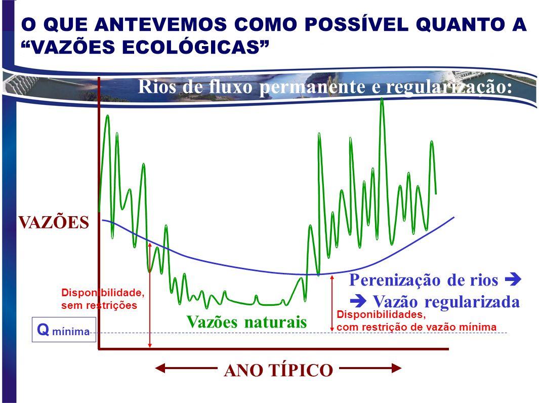 PRINCIPAIS BENEFÍCIOS AMBIENTAIS E ECOLÓGICOS INIBIDOS PELAS ALTERAÇÕES HIDROLÓGICAS Retenção de sedimentos, nutrientes, bioelementos Obstáculos a mig