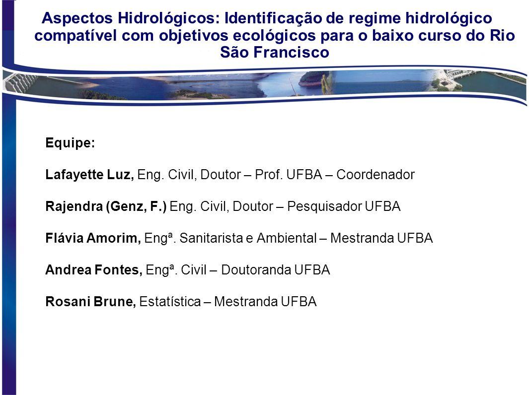 Edital MCT/CNPq/CTHidro nº 45/2006 Vazão Ecológica em Bacias Hidrográficas Brasileiras Projeto Geral da Rede Estudo do Regime de Vazões Ecológicas par