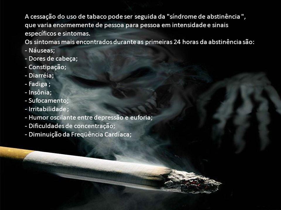 A cessação do uso de tabaco pode ser seguida da