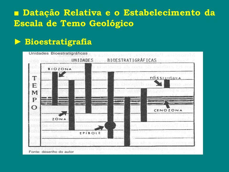 Datação Relativa e o Estabelecimento da Escala de Temo Geológico Bioestratigrafia