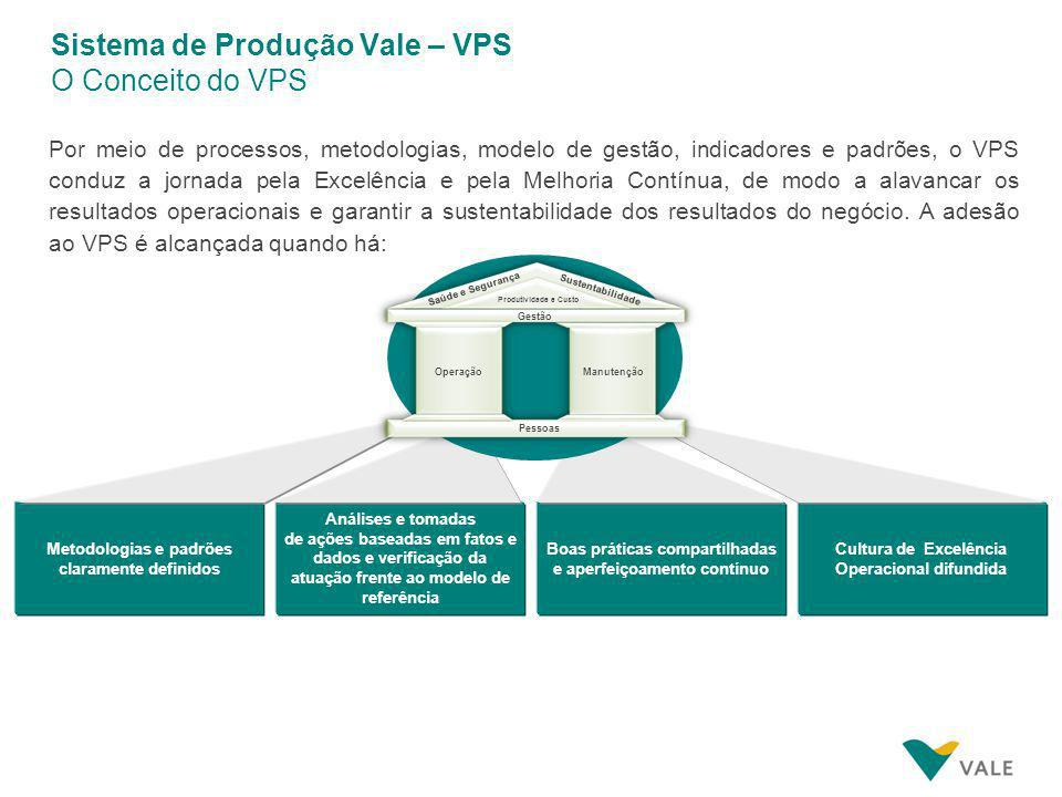 O Sistema de Produção Vale (VPS) é constituído por Dimensões e Requisitos Complementares, que têm o papel de estruturar e organizar a forma de produzi