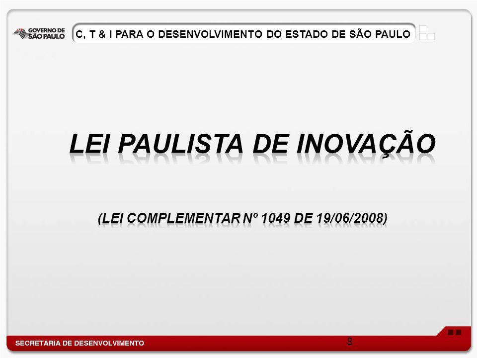 C, T & I PARA O DESENVOLVIMENTO DO ESTADO DE SÃO PAULO 19
