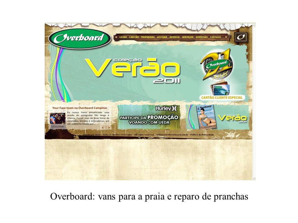 Overboard: vans para a praia e reparo de pranchas
