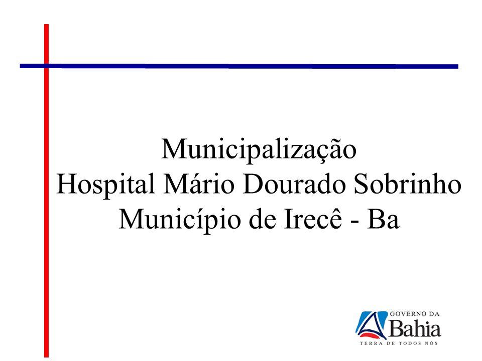 Cenário Atual Hospital Mário Dourado Sobrinho Serviços Tercerizados: PROMIR – Instituto de Promoção da Saúde e Desenvolvimento Social da Micro Região de Irecê; Valor Mensal: R$ 491.247,51 Valor Anual: R$ 5.894.970,12 Ass.