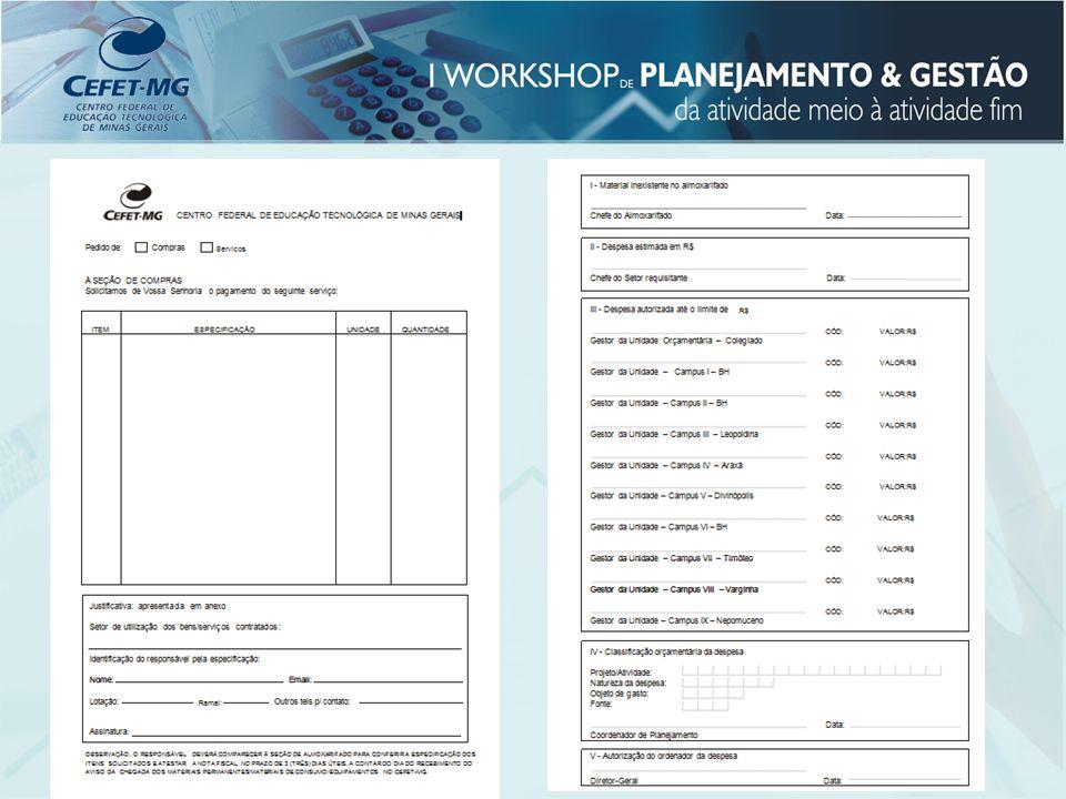 Coordenação Geral de Administração e Finanças Coordenador: Tomaz Antônio Chaves Fone: 3319-7036 E-mail: adm@adm.cefetmg.br