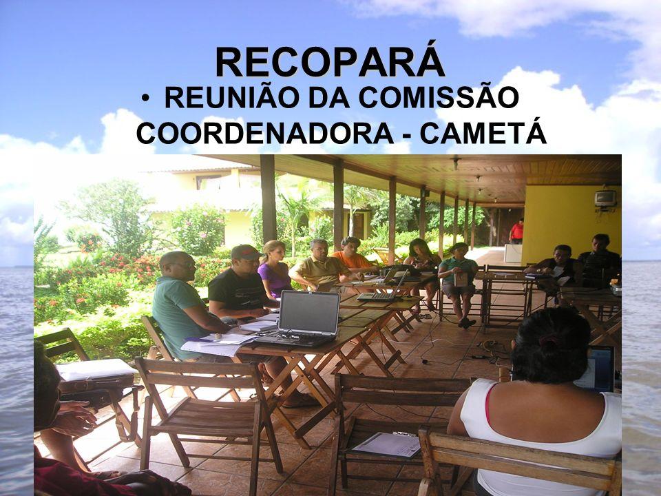 RECOPARÁ REUNIÃO DA COMISSÃO COORDENADORA - CAMETÁ