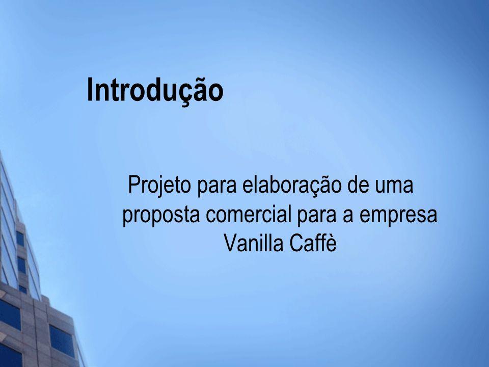 Introdução Projeto para elaboração de uma proposta comercial para a empresa Vanilla Caffè