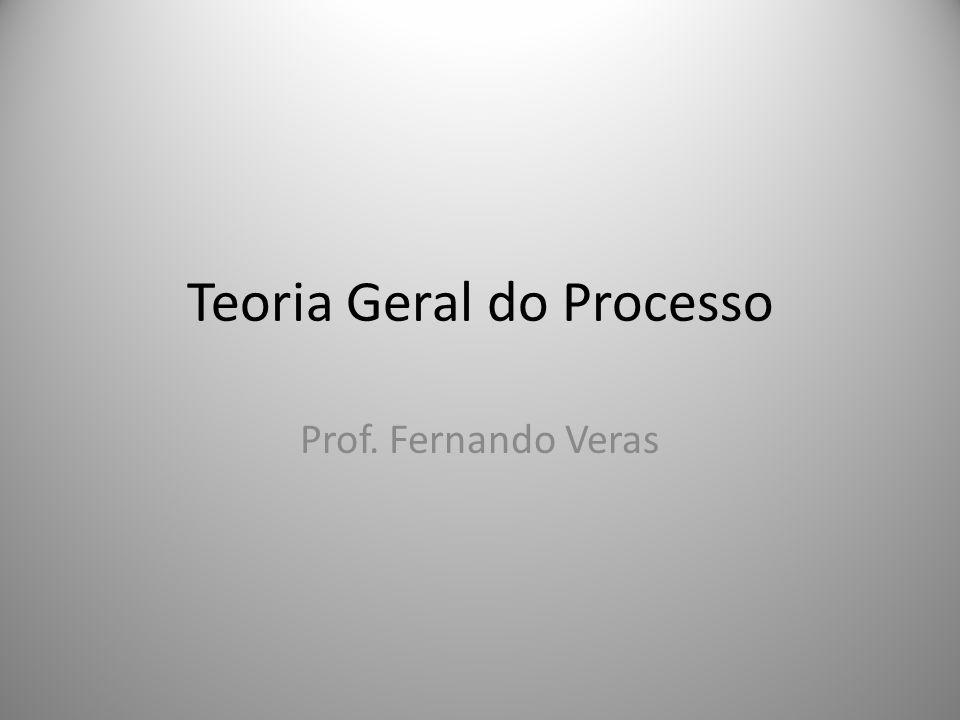 Teoria Geral do Processo Prof. Fernando Veras