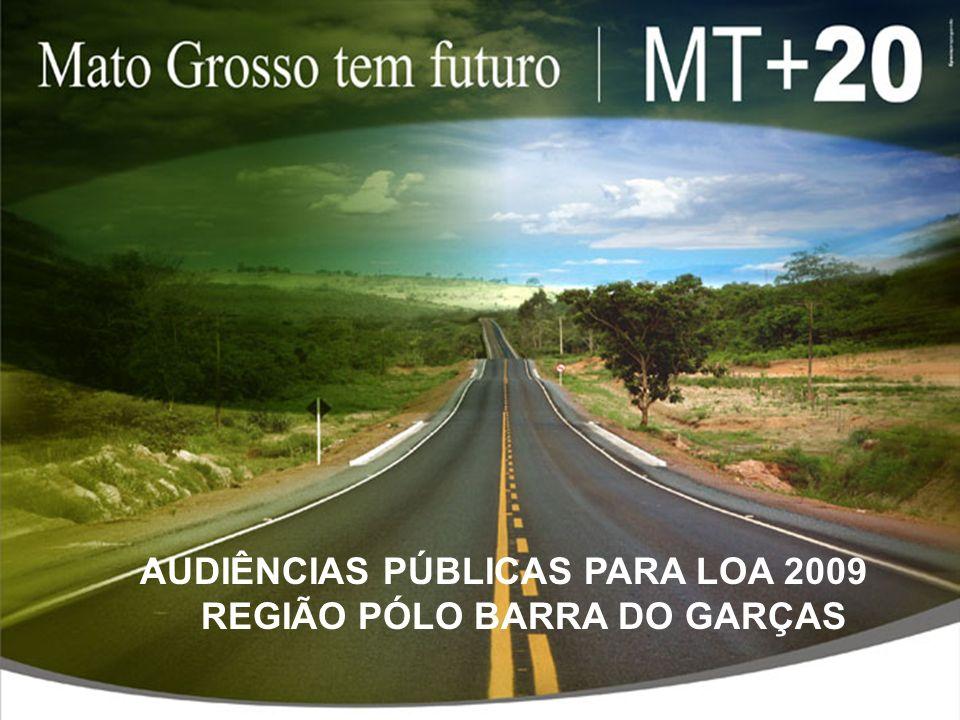 AUDIÊNCIAS PÚBLICAS PARA LOA 2009 REGIÃO PÓLO BARRA DO GARÇAS