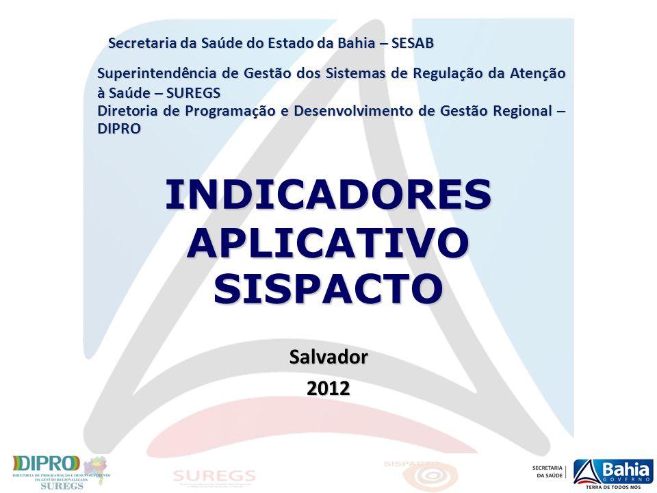 Contatos Equipe DIPRO/SUREGS/SESAB Diretoria de Programação e Desenvolvimento de Gestão Regional - DIPRO Superintendência de Gestão dos Sistemas de Regulação da Atenção à Saúde - SUREGS Tel.: (71) 3116-3942 Fax: (71) 3116-3941 e-mail: dipro.suregs@saude.ba.gov.br