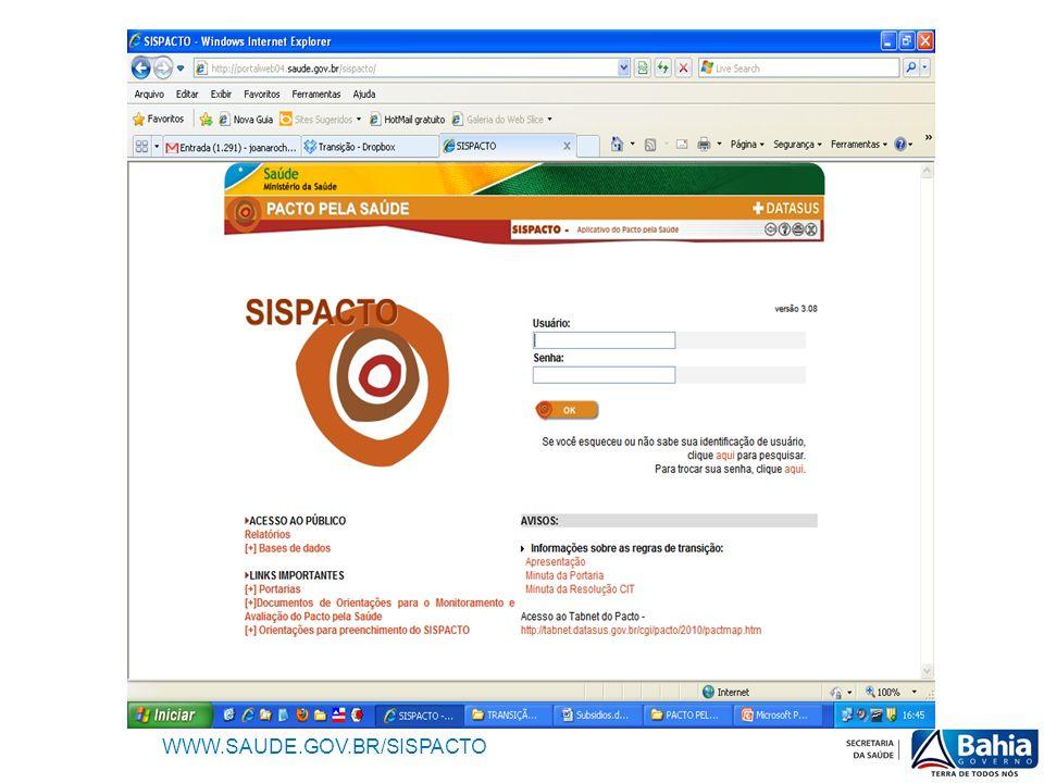 WWW.SAUDE.GOV.BR/SISPACTO
