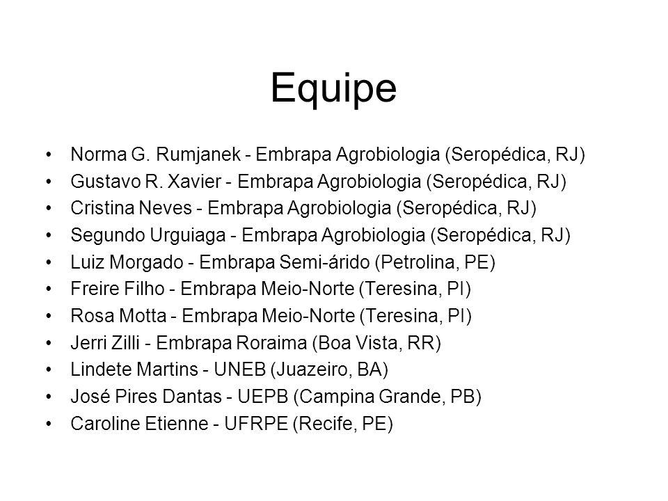 Equipe Norma G. Rumjanek - Embrapa Agrobiologia (Seropédica, RJ) Gustavo R.
