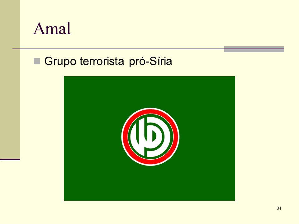 Amal Grupo terrorista pró-Síria 34